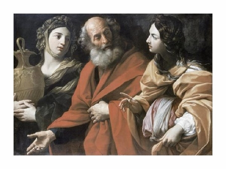 "Guido Reni Fine Art Open Edition Giclée:""Lot and His Daughters"""