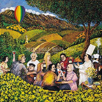 Magnificent Guy Buffet Limited Edition Serigraph On Paper Napa Valley Mustard Festival Download Free Architecture Designs Scobabritishbridgeorg