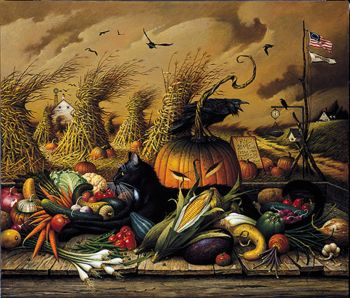 """Hadley House Limited Edition Print: """"Monty Minding the Store"""" by Charles Wysocki"""