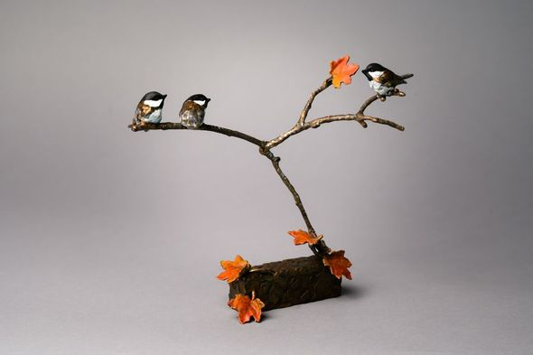 """Mark Hopkins Limited Edition Bronze Sculpture:""""Three's a Crowd (small)"""""""
