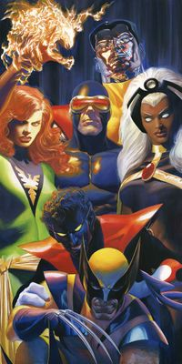 """Alex Ross Signed Artist Proof Limited Edition Lithograph:""""The X-Men"""""""