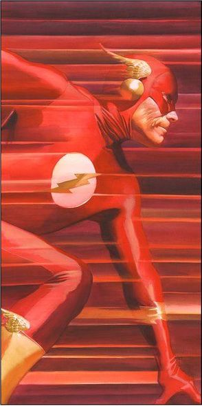 "Alex Ross Signed Artist Proof Limited Edition Canvas Giclee:""Shadows: Flash"""