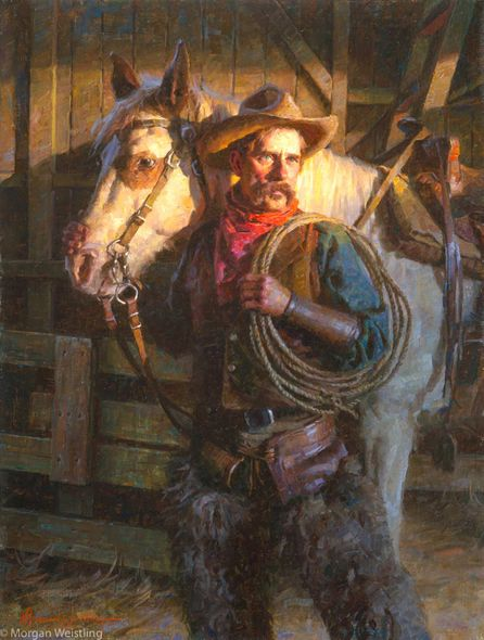 """Morgan Weistling Artist Hand-signed Limited Edition Canvas Giclee:""""Faithful Companions"""""""