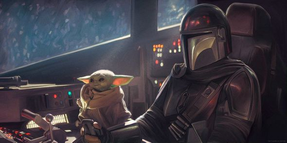 """Carlos Dattoli Star Wars Limited Edition Canvas Giclee:""""Wing Man"""""""