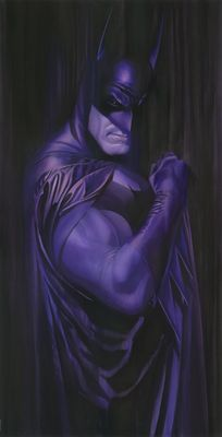 """Alex Ross Signed Limited Edition Giclee on Deckled Edged Paper:""""Shadows:Batman"""""""