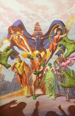 """Alex Ross Signed Artist Proof Limited Edition Lithograph:""""Teen Titans Tribute"""""""