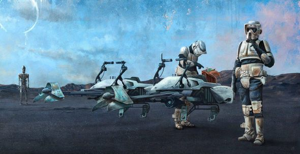 """Akirant Star Wars Limited Edition Art: """"Checkpoint"""""""