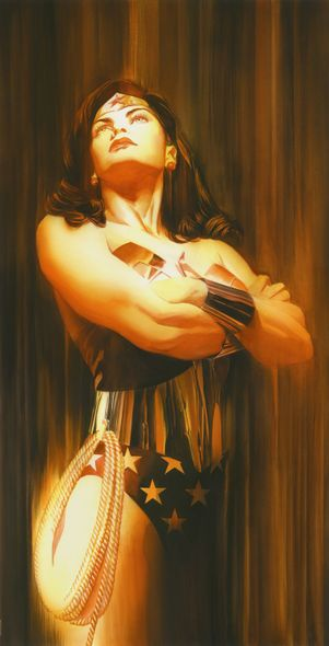 """Alex Ross Signed Limited Edition Giclee on Deckled Edged Paper:""""Shadows:Wonder Woman"""""""