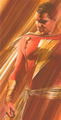 "Alex Ross Signed Limited Edition Giclee on Deckled Edged Paper:""Shadows:SHAZAM!""              """