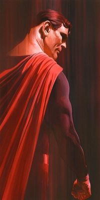 """Alex Ross Signed Limited Edition Giclee on Deckled Edged Paper:""""Shadows:Superman  """""""