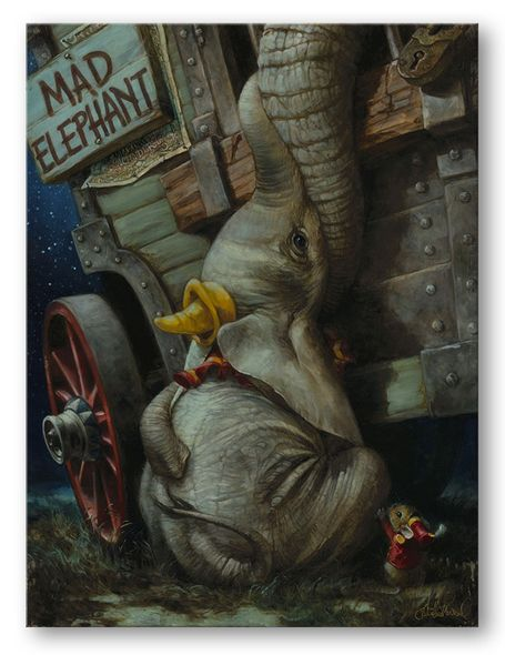 "Heather Theurer Artist Signed and Numbered Hand Embellished Limited Edition Giclee on Canvas:""Baby Mine"""