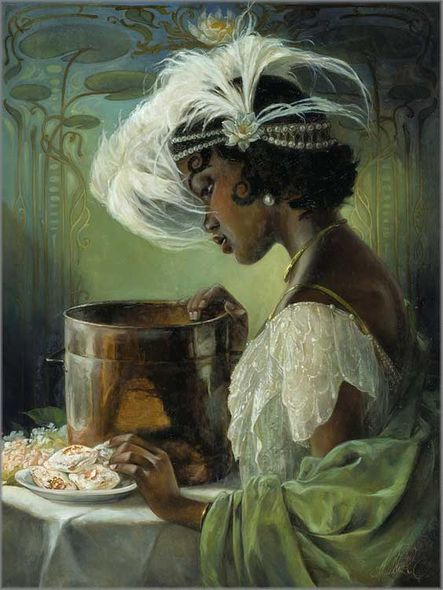 """Heather Theurer Artist Signed and Numbered Hand Embellished Limited Edition Giclee on Canvas:""""Dig a Little Deeper"""""""