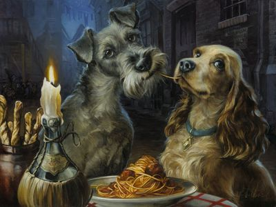 "Heather Theurer Hand-Embellished Giclée on Canvas:""Bella Notte"""