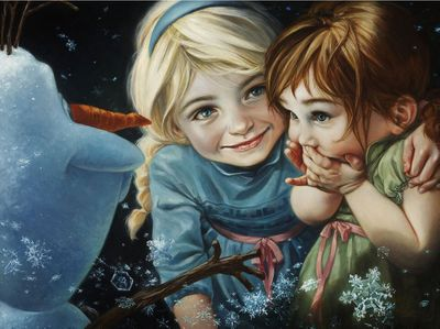 """Heather Theurer Hand-Signed and Numbered Limited Edition Hand-Embellished Textured Canvas Giclee:""""Never Let It Go"""""""