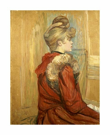 "Henri Toulouse-Lautrec Fine Art Open Edition Giclée:""Girl in a Fur, Miss Jeanne Fountain"""