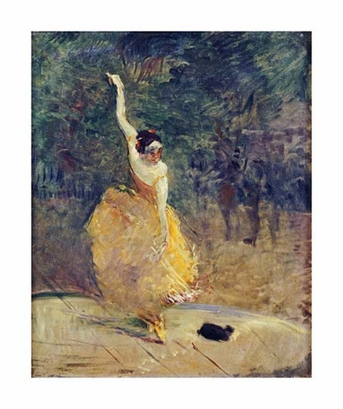 "Henri Toulouse-Lautrec Fine Art Open Edition Giclée:""The Spanish Dancer"""