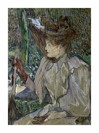 "Henri Toulouse-Lautrec Fine Art Open Edition Giclée:""Woman with Gloves"""