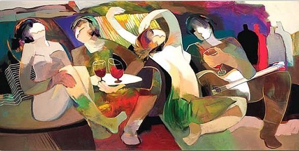 """Hessam Abrishami Artist Signed Limited Edition Canvas Giclee:""""Touching The Night"""""""