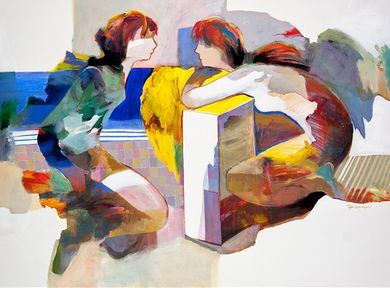"""Hessam Abrishami Artist Signed Limited Edition Canvas Giclee:""""Tell Me Once"""""""