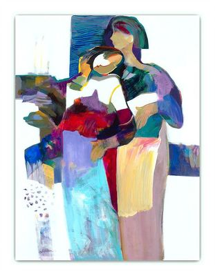 """Hessam Abrishami Handsigned and Numbered Limited Edition Giclee on Canvas:""""Sweet Connect"""""""