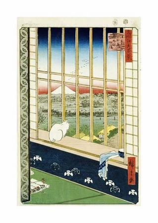 """Hiroshige Fine Art Open Edition Giclée:""""Asakusa Rice Fields During the Festival of the Cock"""""""