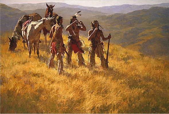 "Howard Terpning Limited Edition Canvas Giclee w/ Bonus Print:""Dust of Many Pony Soldiers (w/ Bonus Remarque print)"""