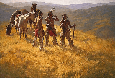 "Howard Terpning 90th Birthday Series Limited Edition Canvas Giclee:""Dust of Many Pony Soldiers (w/ Bonus Remarque print)"""