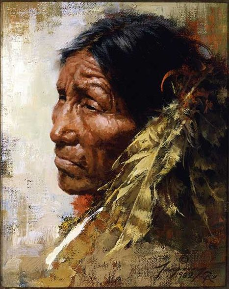 "Howard Terpning Portrait Series Limited Edition Canvas Giclee (October 2019 Release):""The Skeptic"""