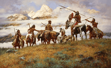 """Howard Terpning 90th Birthday Series Limited Edition Canvas Giclee:""""The Ploy - SOLD OUT"""""""