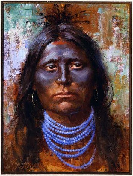 """Howard Terpning Portrait Series Limited Edition Canvas Giclee (April 2020 Release): """"War Paint"""""""
