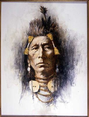 Howard Terpning Portrait Series Limited Edition Canvas Giclee (July 2020 Release):Crow Brave