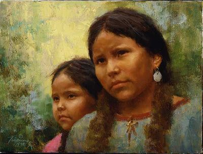 Howard Terpning Portrait Series Limited Edition Canvas Giclee (October 2020 Release): Sisters