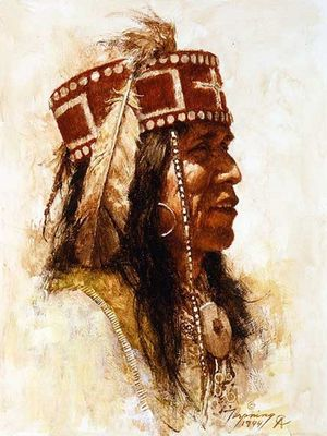 "Howard Terpning Portrait Series Limited Edition Canvas Giclee (January 2021 Release): ""Mescalero Apache"""