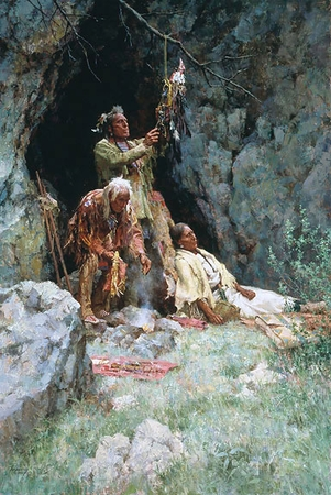 """Howard Terpning Handsigned & Numbered Limited Edition Print:""""The Healing Power of the Raven"""""""