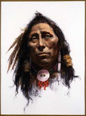 """Howard Terpning Portrait Series Limited Edition Canvas Giclee (October 2021 Release): """"One Man's Diginity"""""""