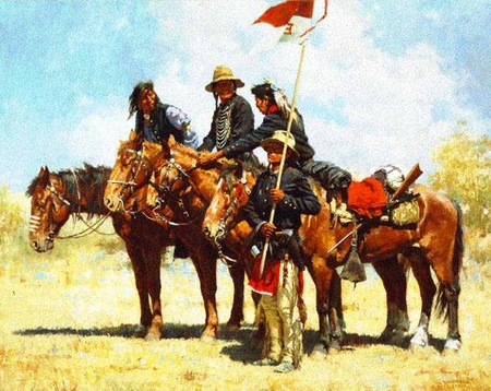"Howard Terpning Limited Edition Print:""Army Regulations"""