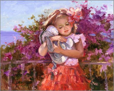 """Irene Sheri Signed and Numbered Limited Edition Hand-Textured Giclée on Canvas:""""Eeyore's Sunny Day"""""""