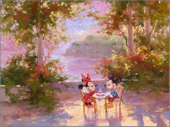 """Irene Sheri Signed and Numbered Limited Edition Hand-Textured Giclée on Canvas:""""The Perfect Birthday"""""""