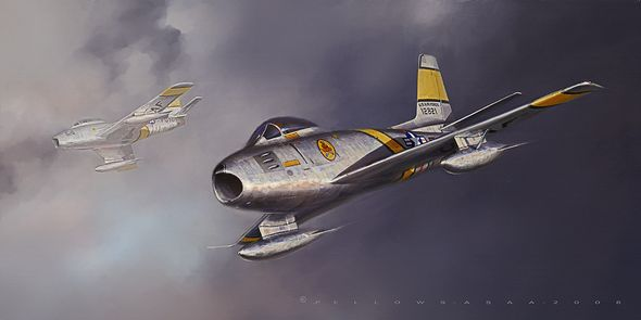 """Jack Fellows Hand Signed and Numbered Limited Edition Print on Paper: """"Sabre"""""""