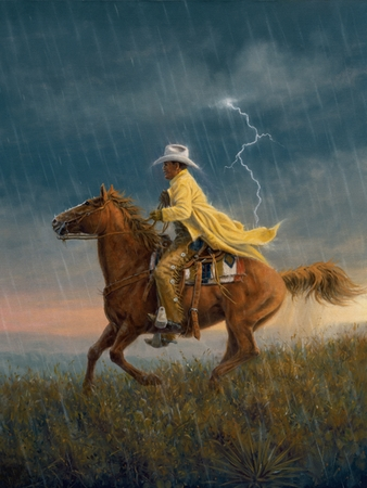"Jack Terry Hand Signed and Numbered Limited Edition Giclee:""Here Comes the Rain"""