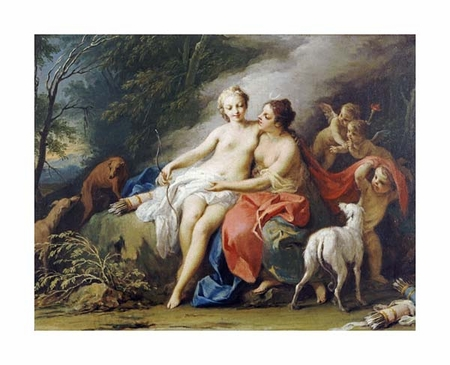 "Jacopo Amigoni Fine Art Open Edition Giclée:""Jupiter and Callisto"""