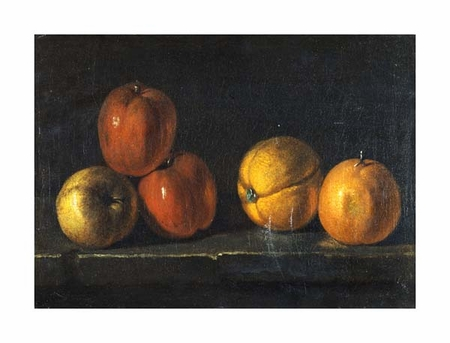 """Jacques Charles Oudry Fine Art Open Edition Giclée:""""Still-Life with Oranges"""""""