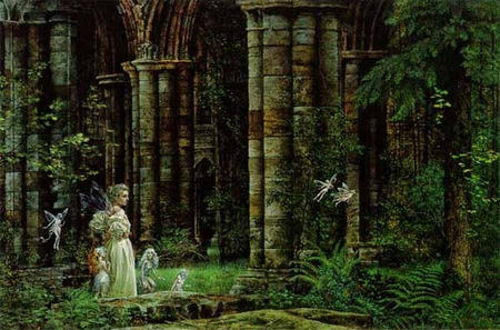 "James C. Christensen Limited Edition Print: ""Queen Mab in the Ruins"""