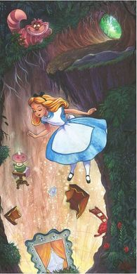 """James C. Mulligan Signed and Numbered Hand Embellished Canvas Giclée: """"Down the Rabbit Hole"""""""