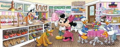"""Michelle St.Laurent Artist Signed Hand-Embellished Ltd Ed Gallery Wrap Canvas Giclee:""""Trip to the Candy Store"""""""