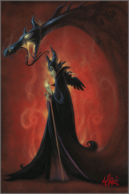 """James C. Mulligan Signed and Numbered Limited Edition Hand-Embellished Giclée on Canvas:""""Dragon Within, The"""""""