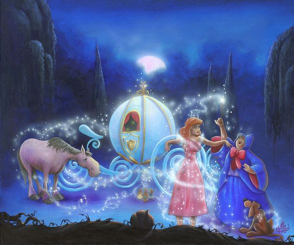 """James C. Mulligan Signed and Numbered Limited Edition Hand-Embellished Giclée on Canvas:""""Dreams Come True"""""""