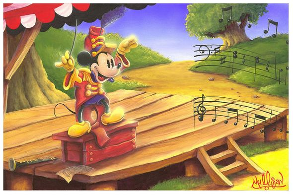 """James C. Mulligan Signed and Numbered Limited Edition Hand-Embellished Giclée on Canvas:""""The Maestro's Baton"""""""