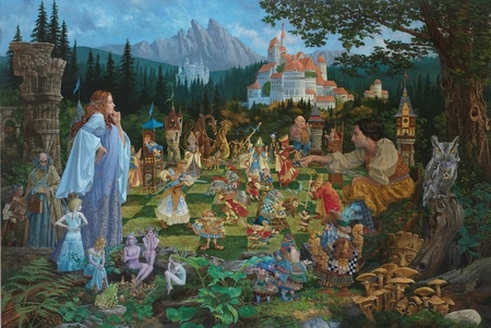 """James Christensen Hand Signed and Number Limited Edition Fine Art Print:""""The Chess Match"""""""