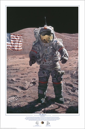 """Alan Bean Astronaut Signed Limited Edition Artist Proof Giclee Print:""""The American"""""""